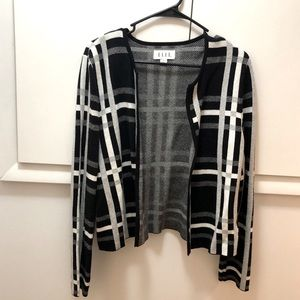 Black white and grey stripped cardigan